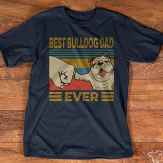 Best Bulldog dad ever vintage t-shirt 2020 new design for dog lover