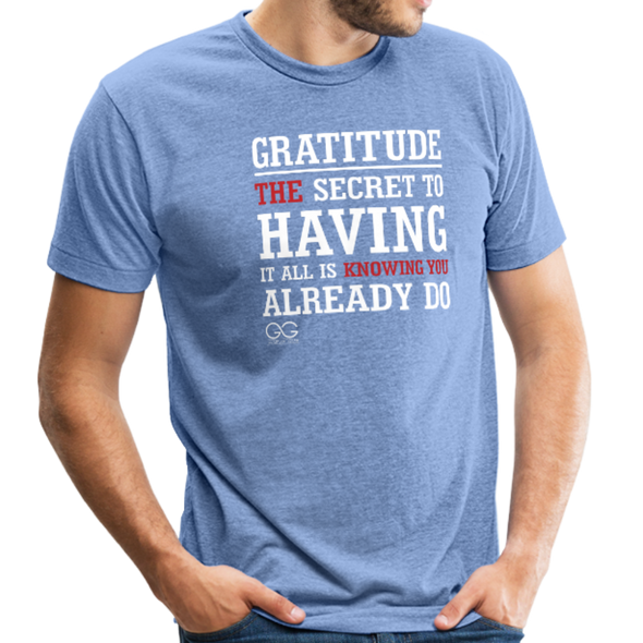 Gratitude Definition - heather Blue