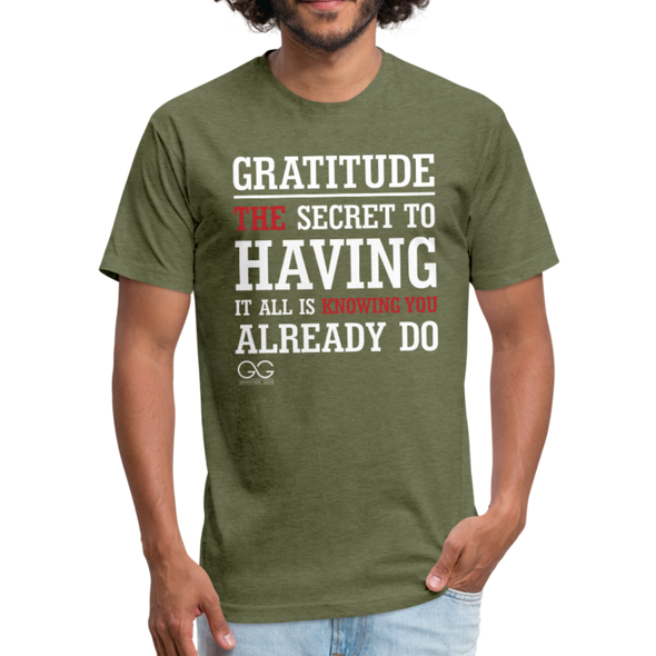 Gratitude Definition - heather military green