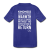 Kids' Premium T-Shirt Kindness Definition - royal blue