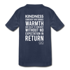 Kids' Premium T-Shirt Kindness Definition - navy