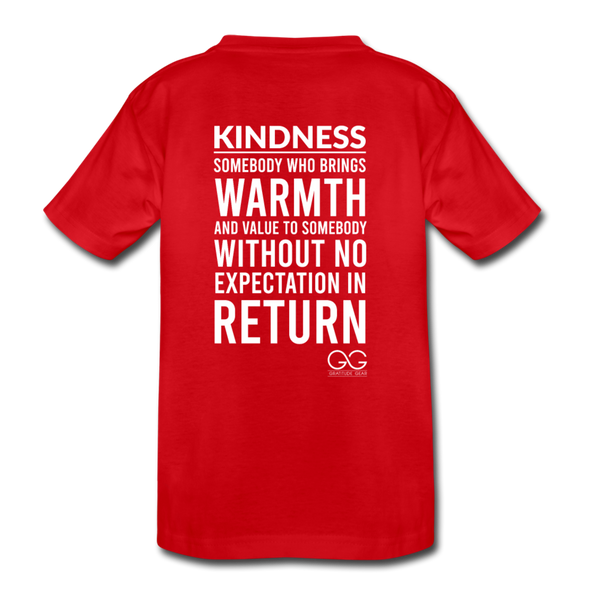 Kids' Premium T-Shirt Kindness Definition - red