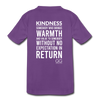 Kids' Premium T-Shirt Kindness Definition - purple