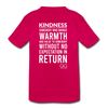 Kids' Premium T-Shirt Kindness Definition - dark pink
