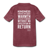 Kids' Premium T-Shirt Kindness Definition - heather burgundy