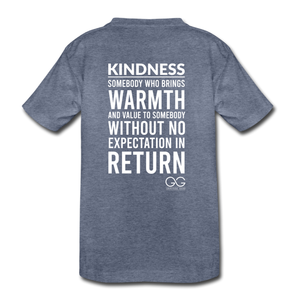 Kids' Premium T-Shirt Kindness Definition - heather blue