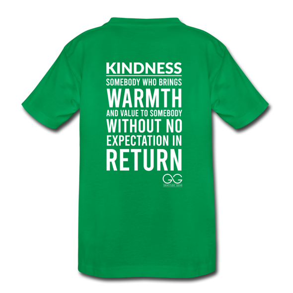 Kids' Premium T-Shirt Kindness Definition - kelly green