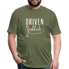 Driven by gratitude t-shirt - heather military green
