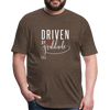 Driven by gratitude t-shirt - heather espresso