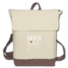 Canvas Backpack - ivory/brown