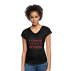 I choose optimism super v neck t-shirt - black