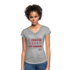 I choose optimism super v neck t-shirt - heather gray