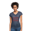 I choose optimism super v neck t-shirt - navy heather