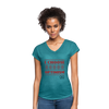 I choose optimism super v neck t-shirt - heather turquoise