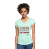 I choose optimism super v neck t-shirt - mint