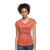 I choose optimism super v neck t-shirt - heather bronze