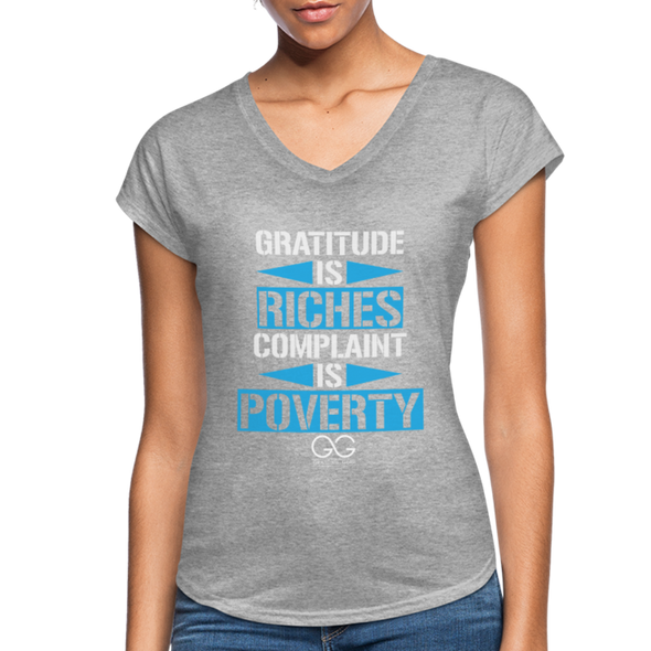 Gratitude is riches complaint is poverty - heather gray