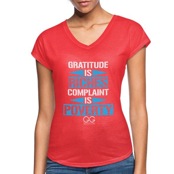 Gratitude is riches complaint is poverty - heather red