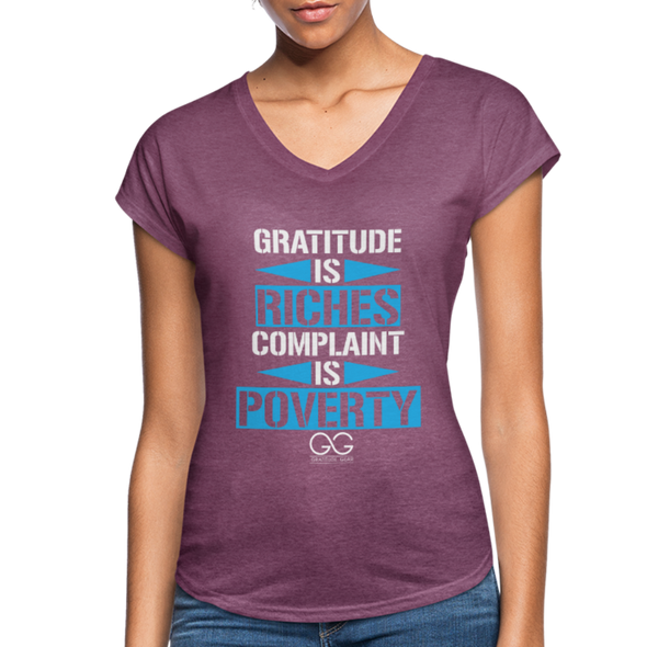 Gratitude is riches complaint is poverty - heather plum