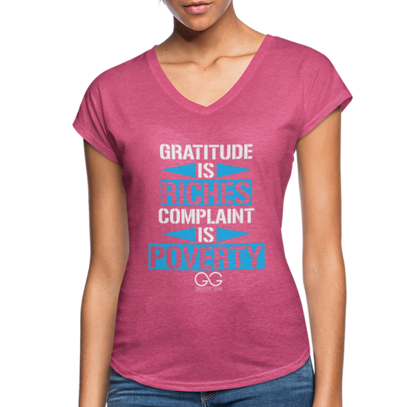 Gratitude is riches complaint is poverty - heather raspberry