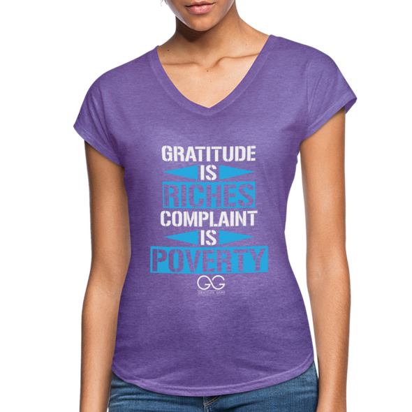 Gratitude is riches complaint is poverty - purple heather