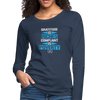 Gratitude is riches complaint is poverty Women's Premium Long Sleeve T-Shirt - navy