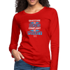 Gratitude is riches complaint is poverty Women's Premium Long Sleeve T-Shirt - red