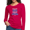 Gratitude is riches complaint is poverty Women's Premium Long Sleeve T-Shirt - dark pink