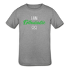 I am enthusiastic Kids' Tri-Blend T-Shirt - heather gray