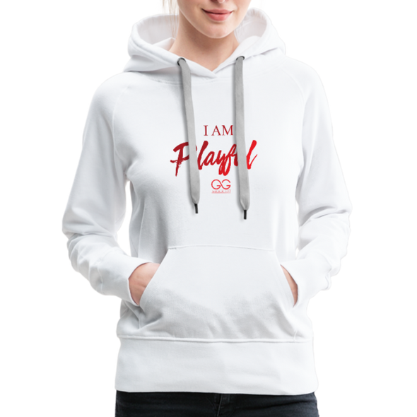 I am powerful super comfortable Women's Premium Hoodie - white