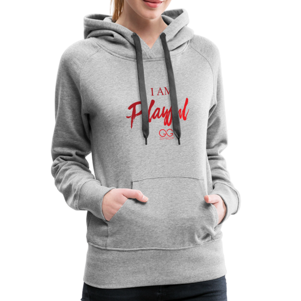 I am powerful super comfortable Women's Premium Hoodie - heather gray