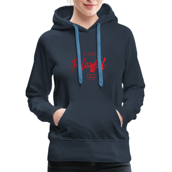 I am powerful super comfortable Women's Premium Hoodie - navy