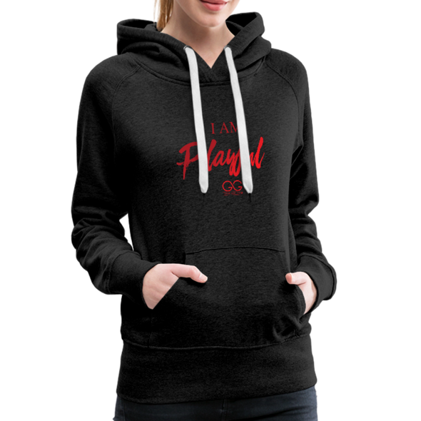 I am powerful super comfortable Women's Premium Hoodie - charcoal gray