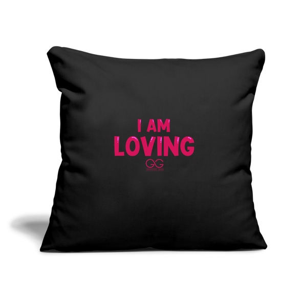 "Throw Pillow Cover 18"" x 18"" - black"