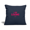 "Throw Pillow Cover 18"" x 18"" - navy"
