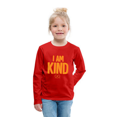 I AM KIND Kids' Premium Long Sleeve T-Shirt - red