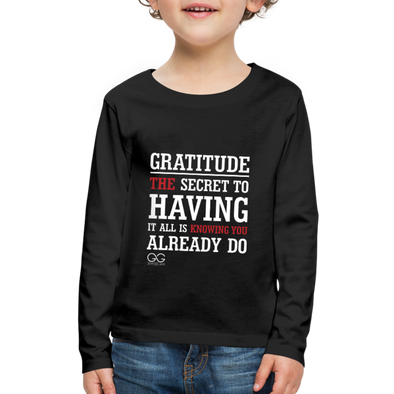 Kids' Premium Long Sleeve T-Shirt - black