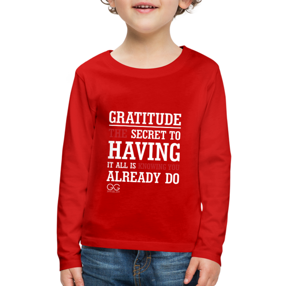 Kids' Premium Long Sleeve T-Shirt - red