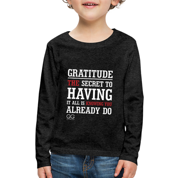 Kids' Premium Long Sleeve T-Shirt - charcoal gray