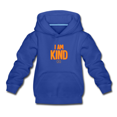 I AM KIND Kids' Premium Hoodie - royal blue
