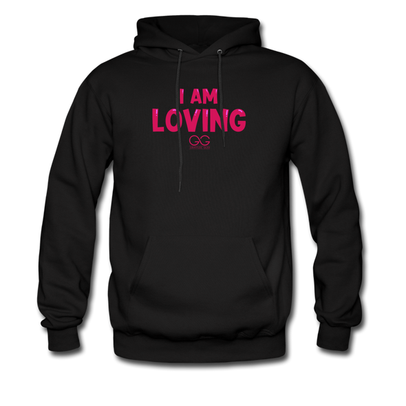 I Am Loving Men's Hoodie - black