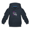 Never give up on something you believe in  Kids' Premium Hoodie - navy