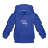 Never give up on something you believe in  Kids' Premium Hoodie - royal blue