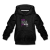 Never give up on something you believe in  Kids' Premium Hoodie - charcoal gray