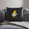 "I Am Powerful Throw Pillow Cover 18"" x 18"" - black"