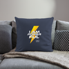 "I Am Powerful Throw Pillow Cover 18"" x 18"" - navy"