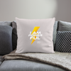 "I Am Powerful Throw Pillow Cover 18"" x 18"" - light taupe"