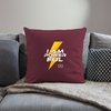 "I Am Powerful Throw Pillow Cover 18"" x 18"" - burgundy"