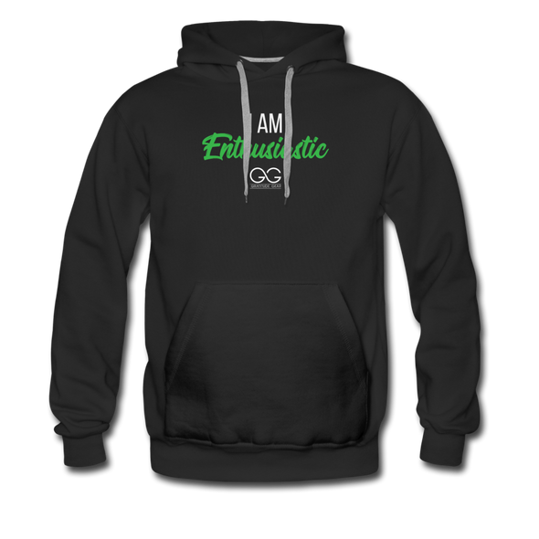 I am enthusiastic mens hoodie - black