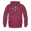I am enthusiastic mens hoodie - burgundy